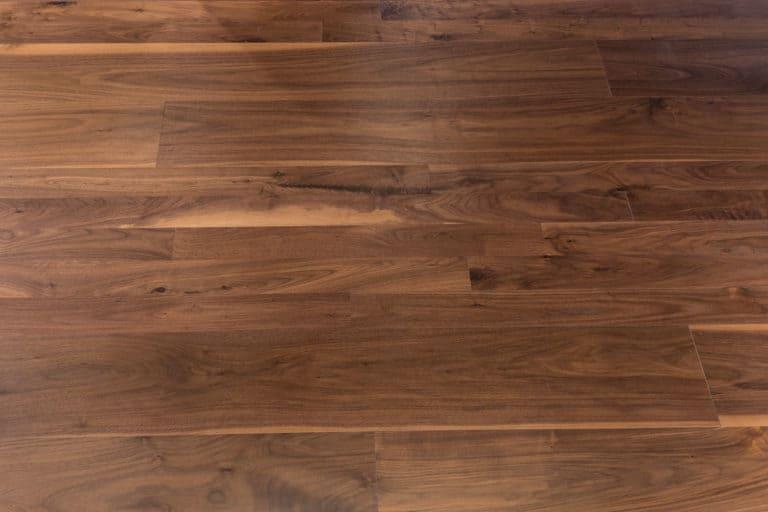 walnut wide plank floor detail