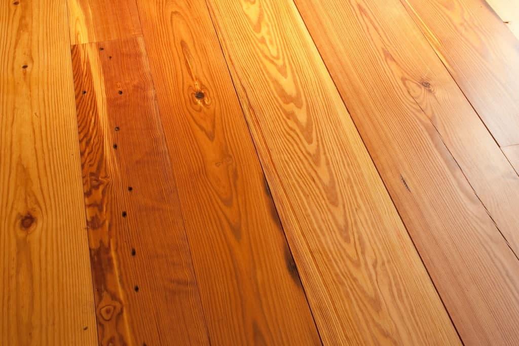 reclaimed heart pine wide plank flooring