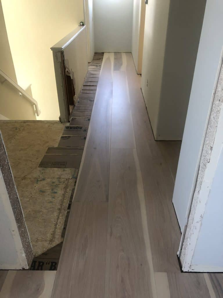 William & Henry Wide Plank Hickory