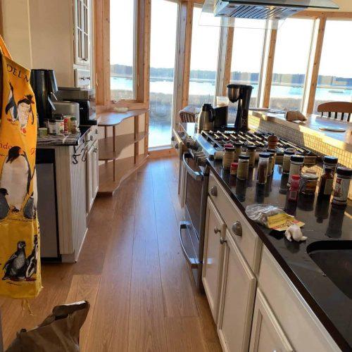 new plank flooring in kitchen