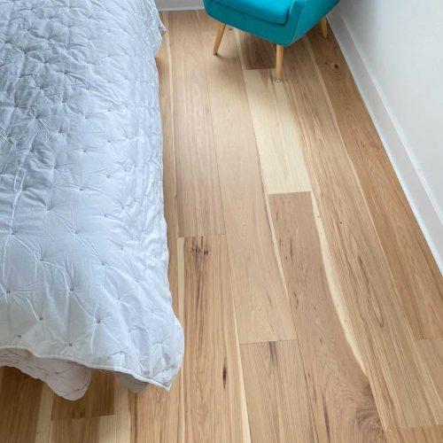 new hardwood flooring in bedroom
