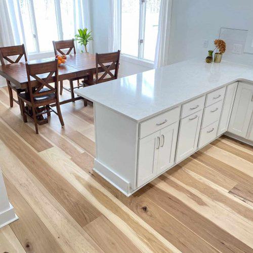 new hardwood flooring in kitchen