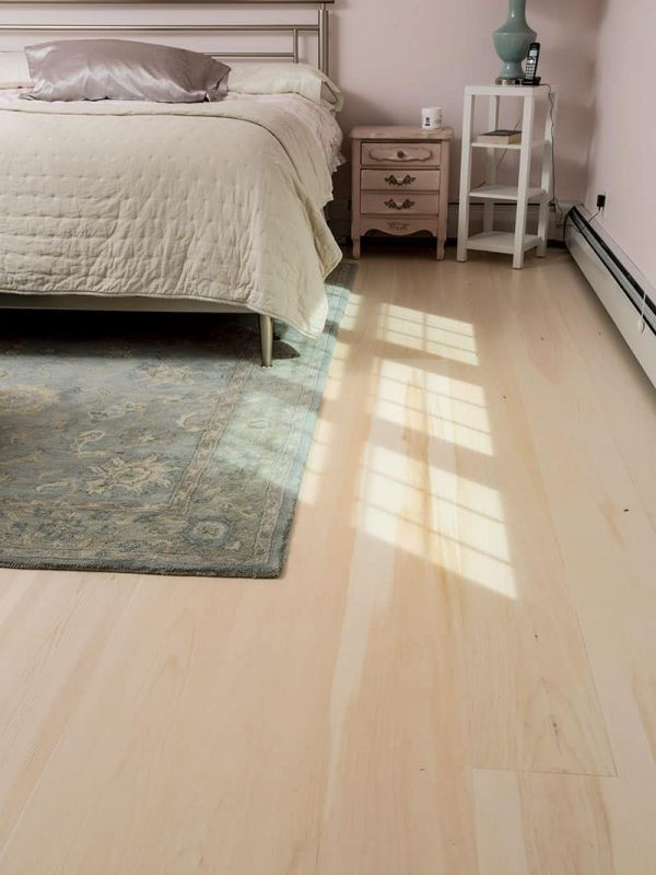 Eastern White Pine flooring in bedroom
