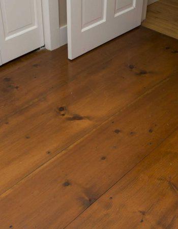 Wide plank flooring closeup